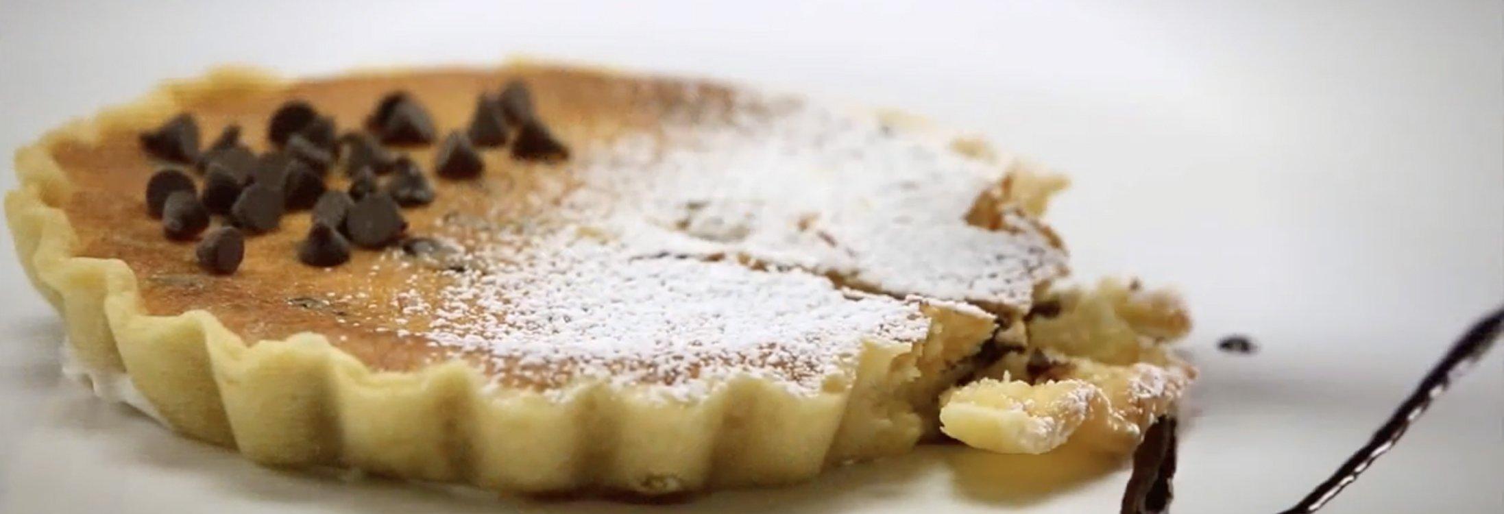 Mini crostate con gocce di cioccolato al mascarpone e ricotta Sterilgarda